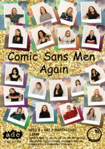 Comic Sans Men poster featuring photos of the cast