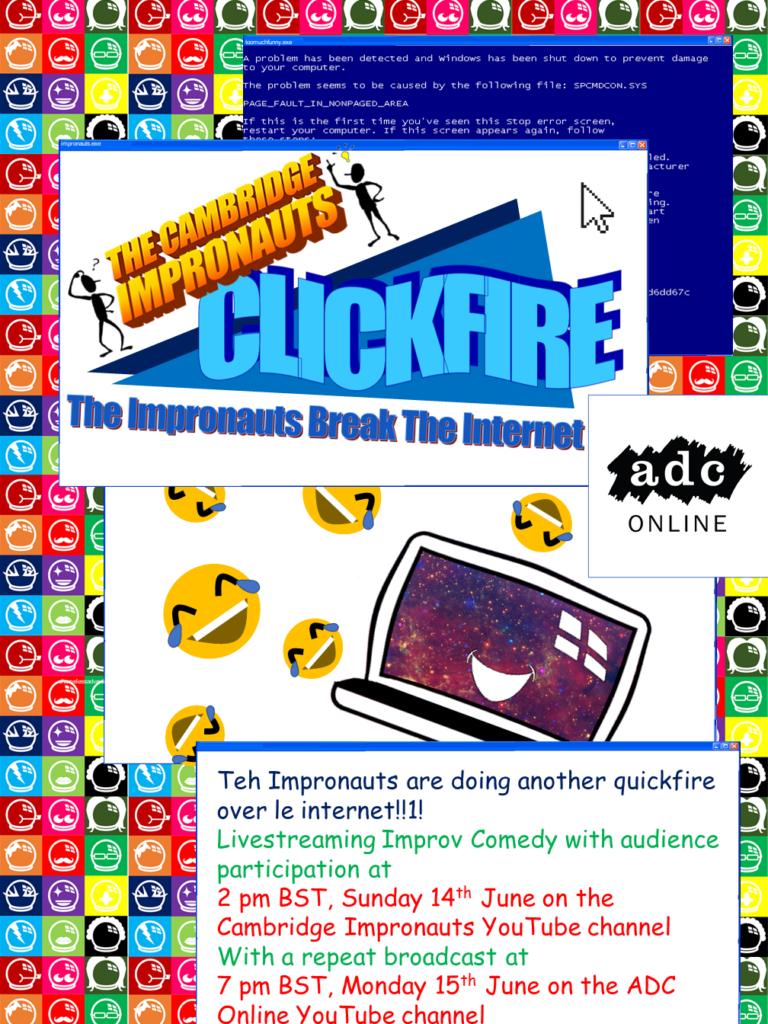 90's style graphics advertising the Clickfire shows