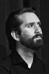 Jonatan Rosten in black and white